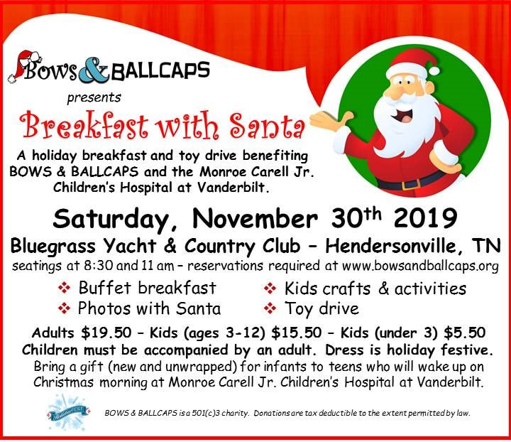 Bows and Ballcaps Breakfast with Santa