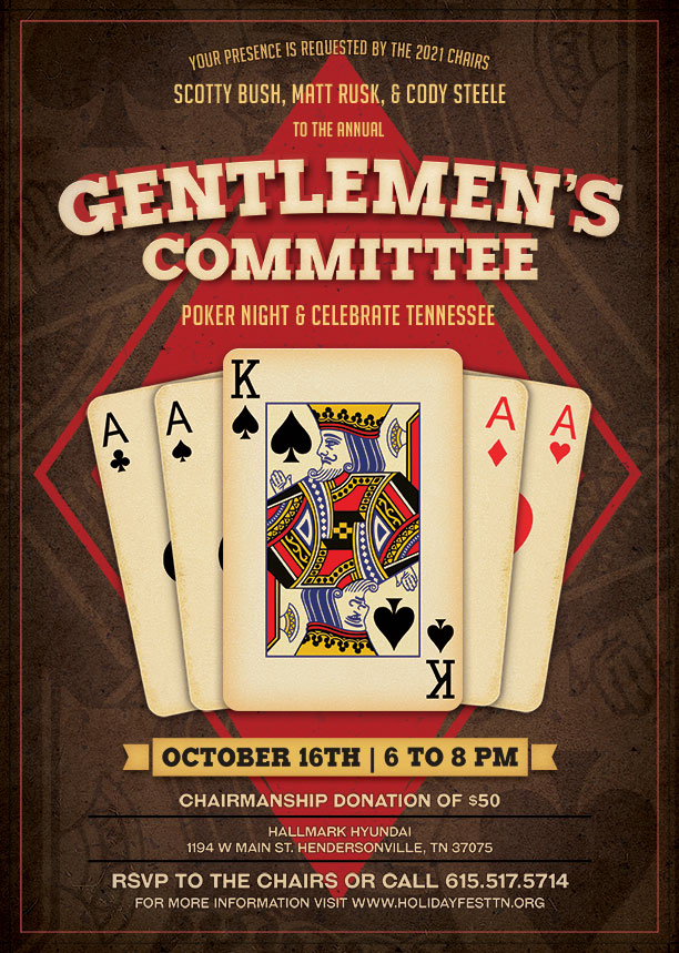 Poker Night and Celebrate Tennessee